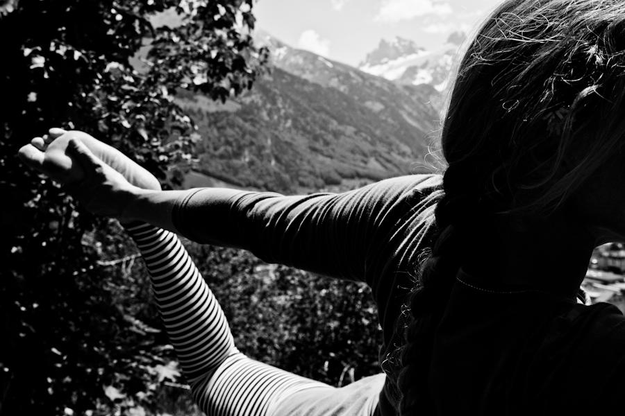 Yogaübung in der Natur
